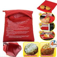 Red Bag potato potatoes stove microwave oven Baked Potatoes perfect in just four minutes of useful kitchen tool for women