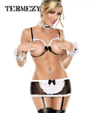 sexy lingerie hot women teddy sexy open crotch bra lace lenceria sexy costume for women sex maid erotic lingerie