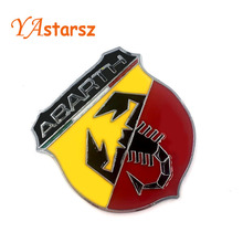 Hot 3D 3M Car Abarth AR Metal Adhesive Badge Emblem logo Decal Sticker character scorpion Fiat 124/125/125/500 - YAstarsz Store store