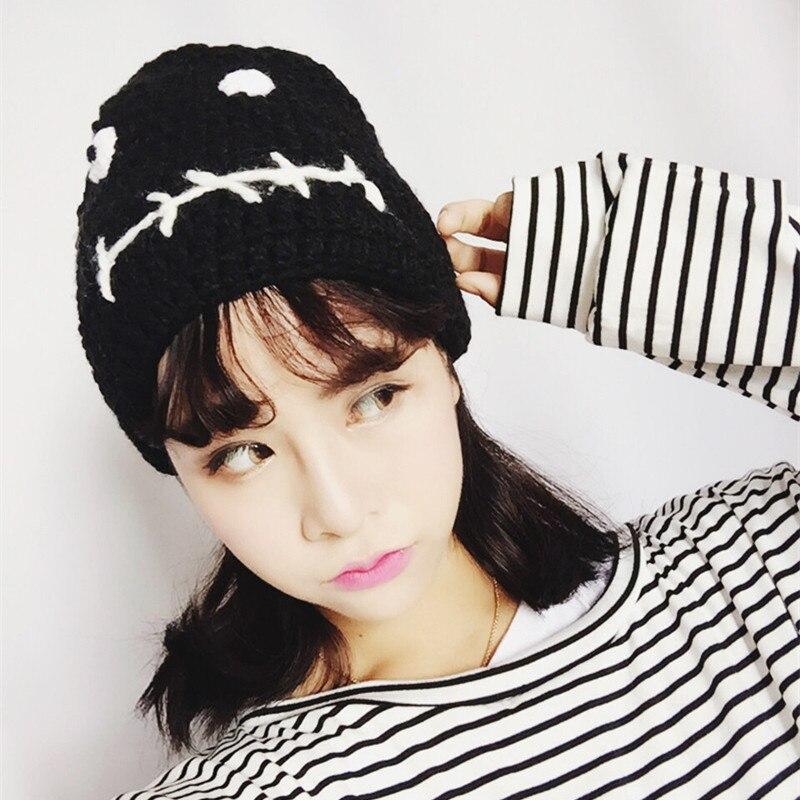 lovable character Solid Winter Hat For Women And Man Soft Warm Skullies Beanies Hat Bonnet Cap Cotton Kniitted Hat Free ShippingÎäåæäà è àêñåññóàðû<br><br><br>Aliexpress