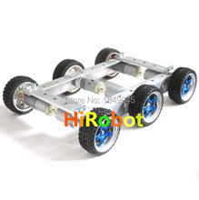 Cool and New 6WD small car bearing chassis motor 6V150RPM wheels skid 65mm for smart remote control