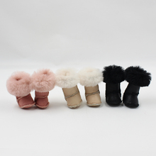 Free shipping Blyth doll warm leather snow boot with 5 styles for chossing suitable for Rubber and Joint body doll Factory Blyth(China)