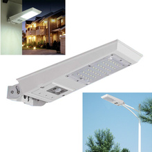 Super bright 2520lm Outdoor 20W Waterproof Motion Sensor Solar Powered LED Pole Wall Street Light 3 working mode(China)