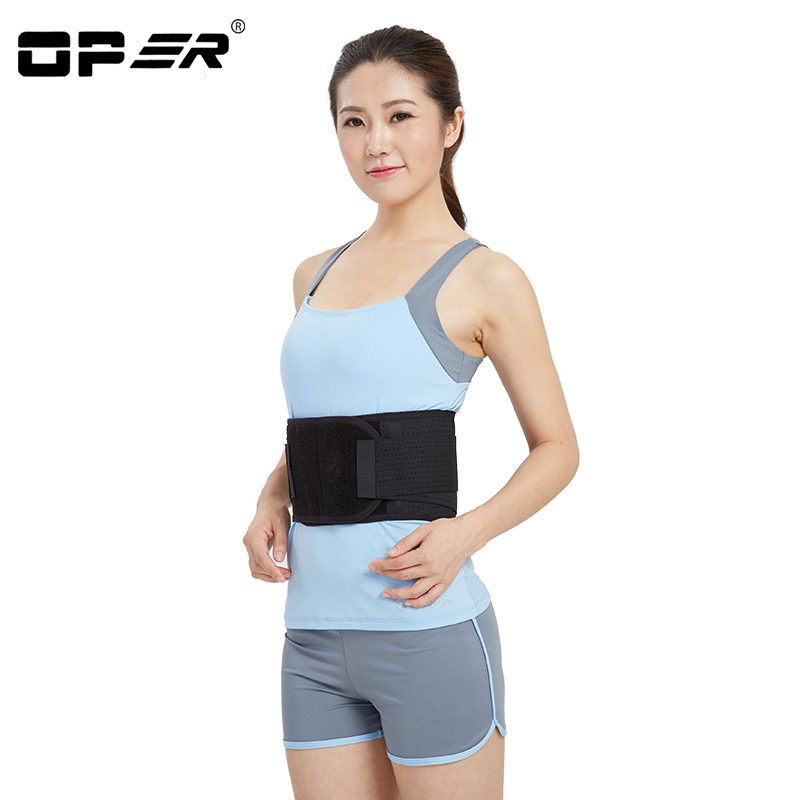 OPER Waist Support Lumbar Back Injury Supporting Brace Waist Support Posture Corrector Back Belt With Steel Pain Relief BO-19<br>