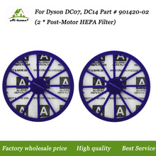 2 x For Dyson DC07, DC14 Purple Post-Motor HEPA Filter Replaces for Dyson DC-07 DC-14 Vacuum Part # 901420-02,90142002 Accessory
