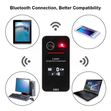 Mini Portable Wireless Bluetooth QWERTY Projection Virtual Touch Keyboard & Mouse Mice LED Screen for iPhone Smart Phone Tablet(China)