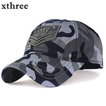 Xthree camouflage baseball cap Letter army snapback Hat for men Cap gorra casquette dad hat Wholesale(China)
