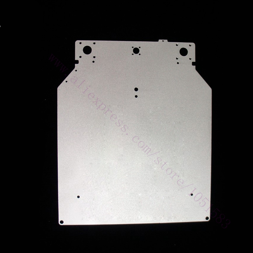 Original Ultimaker2 Print Table Base Plate Aluminum Alloy  303.5*257*4mm Aluminum Plate for Ultimaker 2 3D Printer Parts<br>
