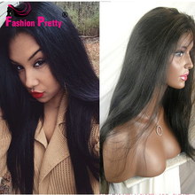 Straight Full Lace Human Hair Wigs Silk Top Glueless Full Lace Wigs For Black Women Peruvian Virgin Hair Silk Base Wigs