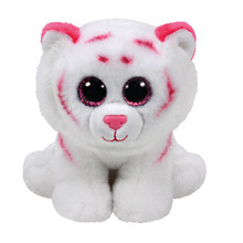 25cm 10'' Ty Original Beanie Boos Plush Toy Tabor Tiger White Pink Stuffed Animal Doll Big Eye Kids Toy Soft Cute Birthday Gift