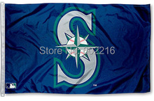 Baseball Seattle Mariners S Large Flag 3ft x 5ft Size No.4 144* 96cm Custom flag