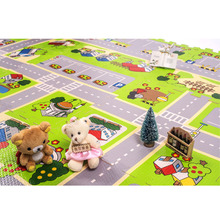 4pcs Road Mat Games City Play Road Carpet for Kids Colorful Newborn Square Foam Crawling Cushion(China)
