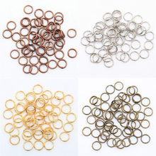 Gold Silver Color Metal Split Rings Findings For Key Jump Rings Metal connectorsFor Jewelry Making Wholesale 4 5 6 7 8 10 12 mm(China)
