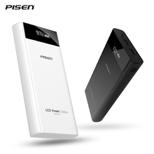 PISEN 20000 mAh Portable Power Bank External Mobile Battery Pack Charging Station With Dual USB For iPhone 6 7 plus Tablet xaomi(China)