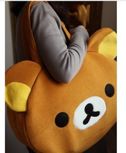 5 pieces Kawaii Plush Rilakkuma Bag Women's Handbag Big Travel Bag,Novelty Christmas Gift