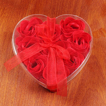 Silk Cotton Bondage Rope Soft Touch Tie Up Fun Bath Body Flower Heart Favor Soap Rose Petal Wedding Decoration Party Gift(China)