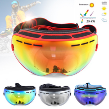 Be Nice Double Lens UV400 Anti-Fog Big Spherical Skiing Glasses Winter Sport Protective Snowboard Skiing Eyewear Goggles Glasses(China)