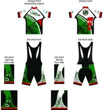 Custom Design Summer Cycling Short Sleeve and long Jersey Bib Shorts Cycling Team Road Biker Cycling Sports set