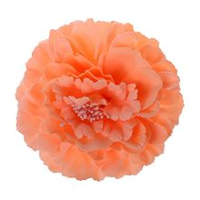 JEYL Hot New Bead Decoration Pink Fabric Peony Flower Style Ponytail Holder Hairclip Brooch