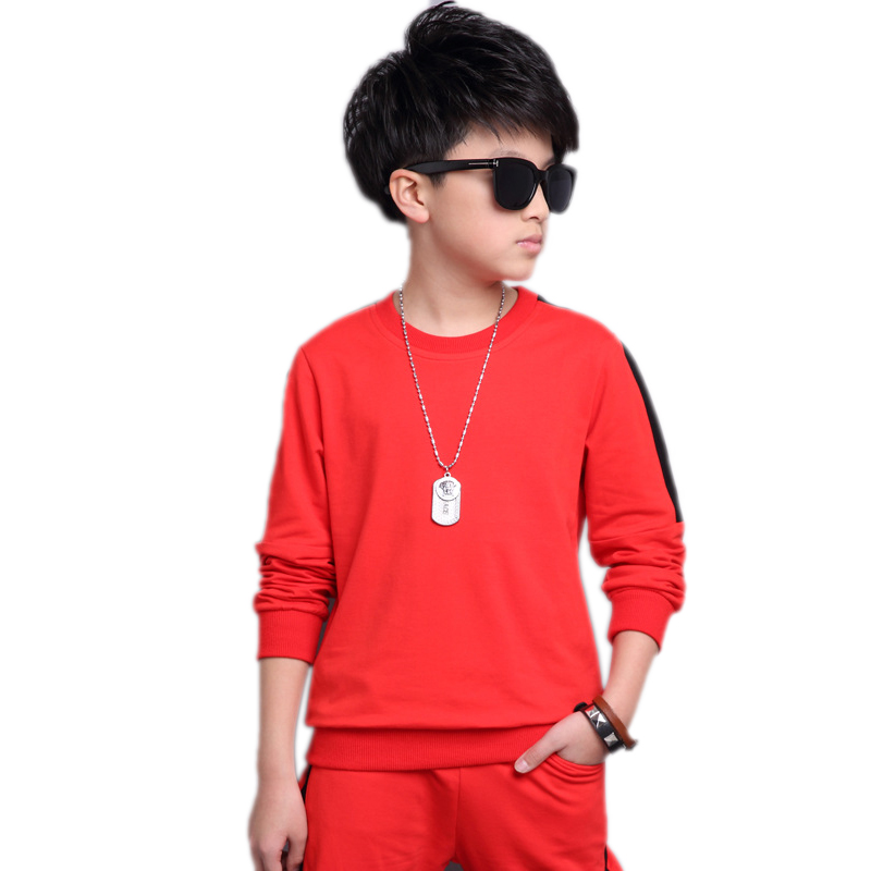 boys sportswear 2017 new autumn children clothing striped hoodies&amp;sweatshirt+pants 2pcs boys sports sets kids tracksuits 4-13T<br>