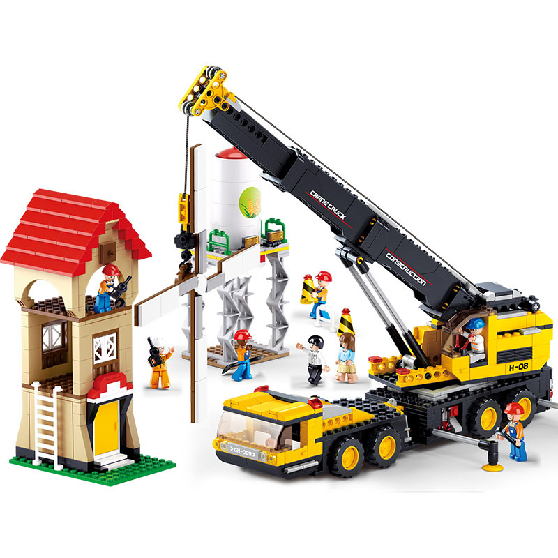 767pcs Heavy cranes series Building Blocks SimCity DIY Construction vehicles Kids Creative Bricks Toys compatible with Leping<br><br>Aliexpress