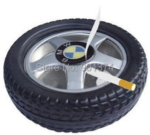 advertising creative tyre shape ashtray Office Home Cigarette Ashtray many designs ,6pcs/lot ,-free shipping(China)