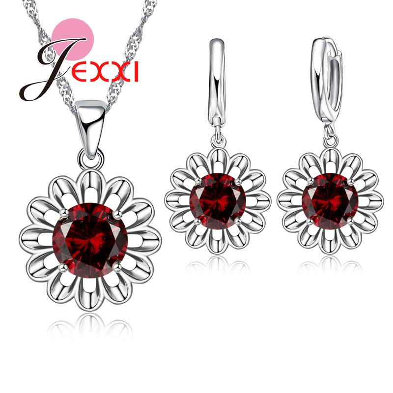 JEXXI-Rpmanic-Jewelry-Sets-Sunflower-Silver-Color-Jewelry-For-Women-Wedding-Earrings-Chain-Necklace-Pendant-Set (2)