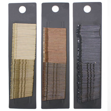 100 Pcs/ set Black /Brown daily use bobby pins classic simplicity hair clips for girl /women hair accessories wholesale(China)