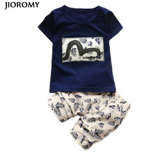 JIOROMY Kids Boys Clothing Sets 2017 Summer Kids Clothes for Boys Fashion T-shirt + Pants 2 Pcs Baby Boys Toddler Suit 1-4 Years(China)