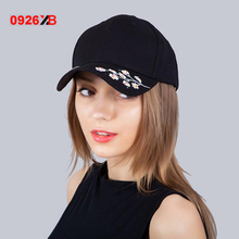 0926XBNew Fashion Simple New Embroidery Flower Dad Snapback Baseball Cap Curved Daisy Fitted Hats Meme Visor Hat Gorras(China)