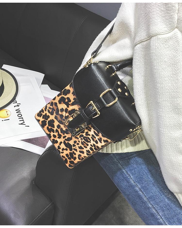 Buy Leopard print designer replica black bag
