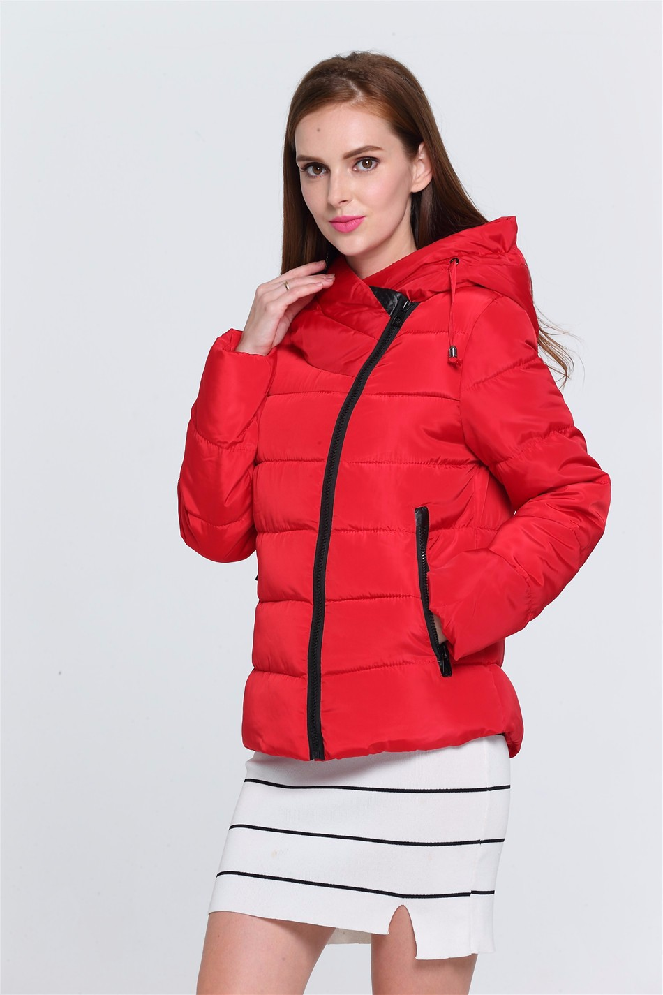2017 Women Winter Jacket Warm Casual Hoodies Solid Women Down Jacket For Female Red Color Size M-3XL Womens Winter JacketОдежда и ак�е��уары<br><br><br>Aliexpress