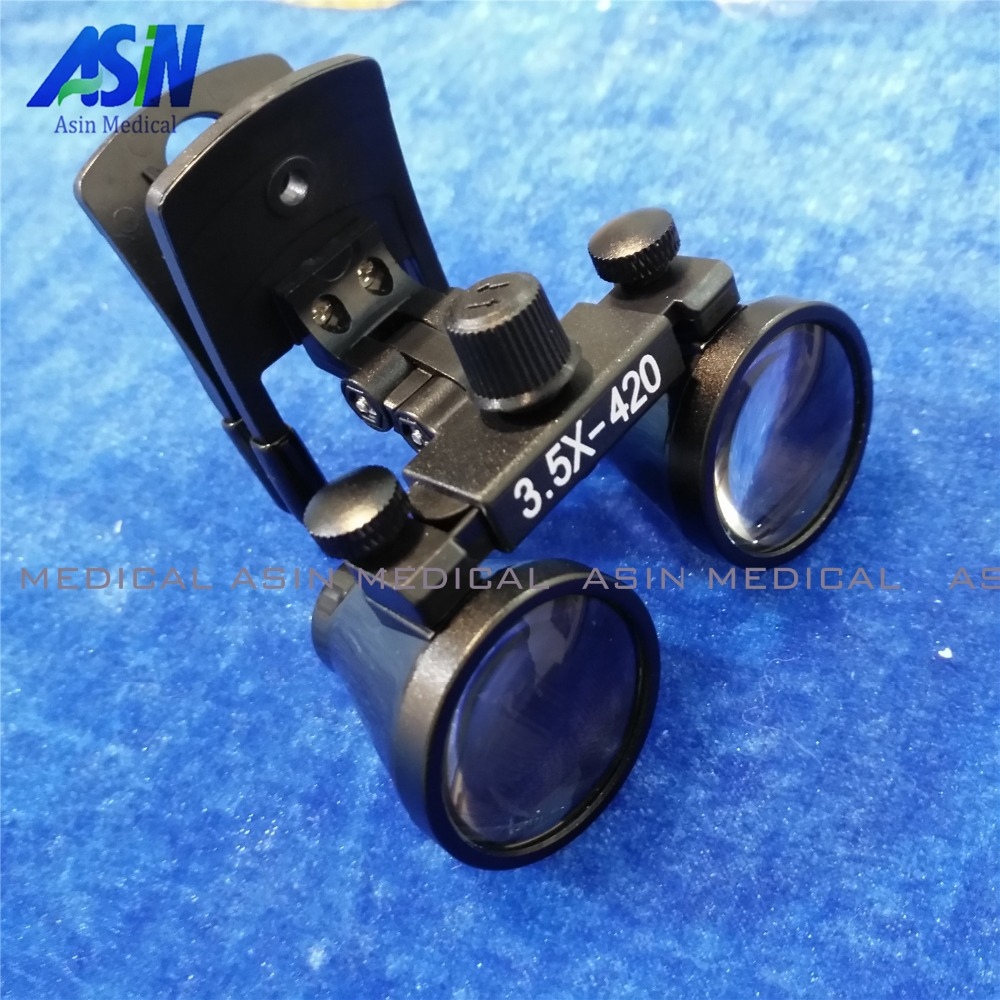 2017 New Clip type Dental Loupes for Medical Galileo Magnifier with Surgical Magnifying Glasses compatible all kinds of glasses<br>