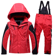 High Quality Kids Children Ski Jacket + P ant Snowboarding Suits for Boys and Girls Outdoor Winter Thermal Coat and Trousers