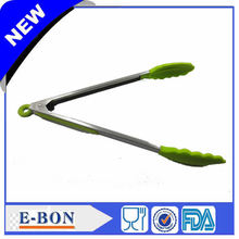 Large Size Green Stainless Steel Tong Scallop Food Tongs Cook Tools Free Shipping