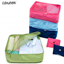 LDAJMW Foldable Portable Nylon Mesh Underwear Cosmetics Storage Bags For Clothes Travel Pouch Luggage Organizer Tidy Box MUS