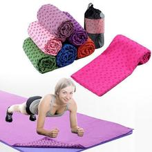 Hot Sale Candy Color Non-Slip Yoga Mat Cover Towel Blanket Sport Fitness Exercise Pilates Flower Workout For Women Female