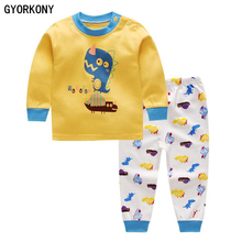 2018 Kids Thermal Underwear Solid Thick Cotton Children's Warm Suit Clothes Baby Boys Girls Long Johns Pajamas Sets A-BN1014-5P(China)
