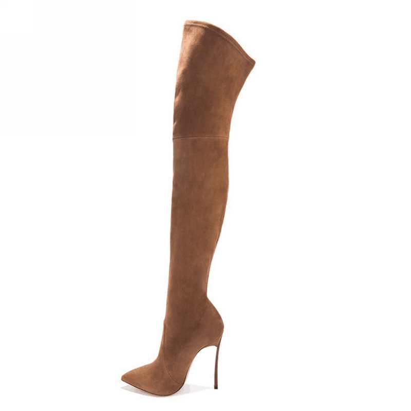 2017 women thigh high boots over the knee high heel boots winter and autumn woman shoes plus size 4-11 botas mujer femininas<br><br>Aliexpress