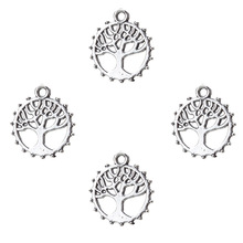 Buy 20pc Tree Life Connector Charms Antique Silver Tone Leaf Cutouts Diy Bracelet Necklace Pendant Jewelry Accessories Findings for $2.99 in AliExpress store