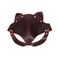 Buy BDSM Bondage Fox Slave Cosplay Sex Mask PU Leather Blindfold Fetish Mask Adult Flirting Sex Toys Exotic Accessories Couples