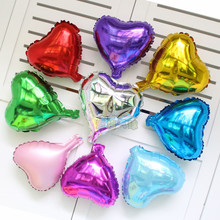 15pcs/lot 10inch pure color balloons love red Heart star balloon aluminum foil ballons for Valentine's wedding decoration globos(China)