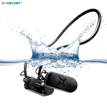 2017 New APT-X V30 Bone Conduction 4G 8G HIFI MP3 Player IPX8 Waterproof Swimming Outdoor Sport Earphones USB MP3 Music Players(China)