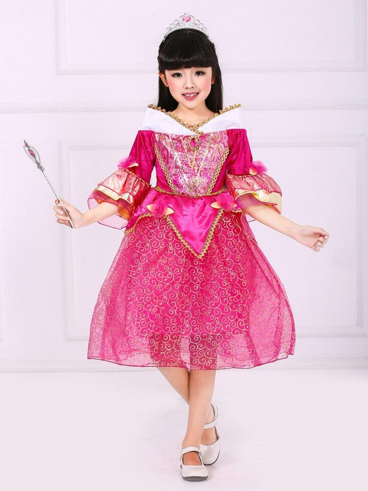 Fashion kids party gowns designs princess costumes for girls ruffle long sleeve autumn cartoon dress kids<br><br>Aliexpress