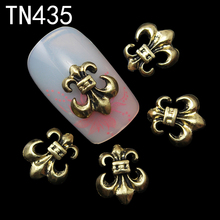 10pc Copper Alloy Glitter 3d Nail Art Anchor Decorations with Rhinestones,3D Nail Charms,Jewelry on Nails Salon Supplies TN435