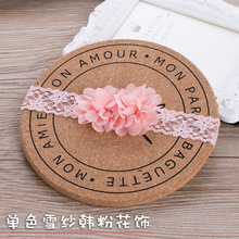 1pcs Baby lace floral headband cute Flower Children Elastic Lace Headband Hair haarband girl adornos para el pelo(China)