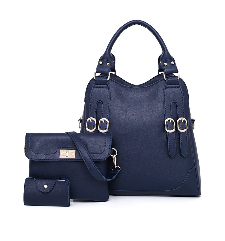Women Bag PU Leather Female 3 Sets Handbags Women Ladies Shoulder Bags Composite Casual Tote Solid Bag for Women DropShipping 38