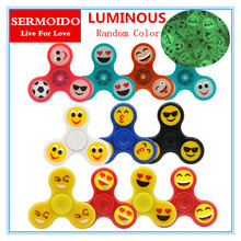 Buy SERMOIDO Luminous Light Finger Gyro Finger ABS EDC Hand Spinner Tri Kids Autism ADHD Anxiety Stress Handspinner A122 for $0.95 in AliExpress store