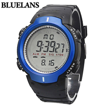 Fashion Men's Women's Waterproof LCD Digital Stopwatch Date Rubber Sports Wrist Watch Digital Watch for Outdoor Running 8ACD