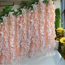 10pcs 30cm Home fashion artificial hydrangea party romantic wedding decorative silk garlands of artificial flowers silk wisteria